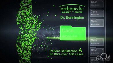 Orthopedic implant software motion graphic