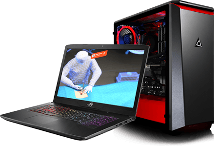 VR capable laptop and desktop computer